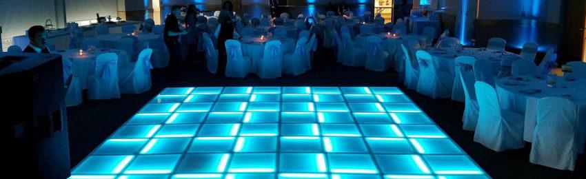 Oak Room with lighted floor