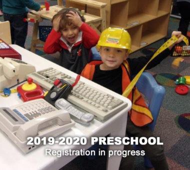 2019-2020 Preschool Registration in progress